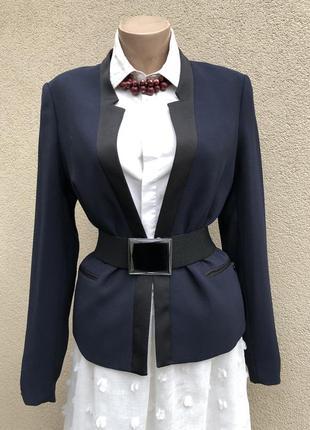 Синий жакет,пиджак,блейзер офисный,оригинал,