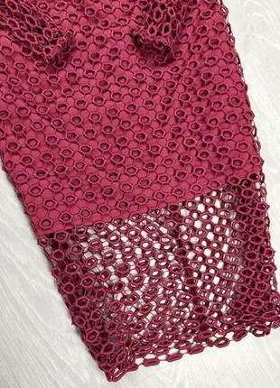 Платье винного цвета3 фото