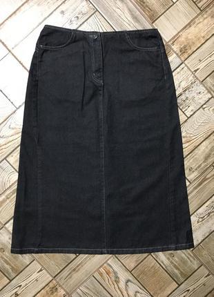 Стильная джинсовая юбка трапеция machine !!