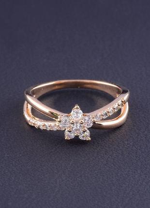Кольцо 'big dipper' фианит (позолота 18к) 0559170