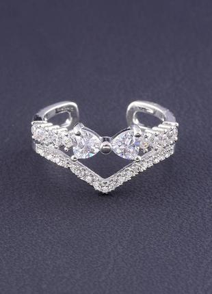 Кольцо 'big dipper' фианит (родий) 0559000