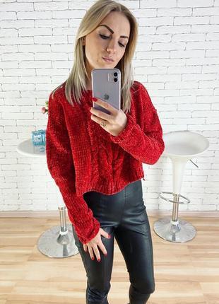 Велюровый свитер1 фото