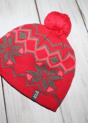 Jack wolfskin теплая шапка
