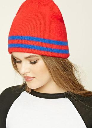 Forever 21. это не сток! товар из англии. теплая шапка с полосками.