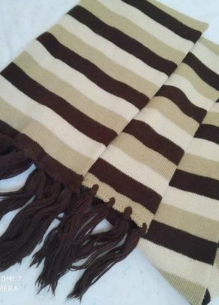 Мягкий длинный теплый шарф, отличное состояние