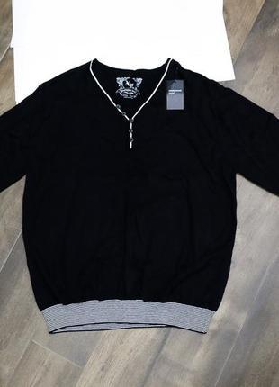 Красивый черный хлопковый свитер cedarwoodstate, xl. новый!
