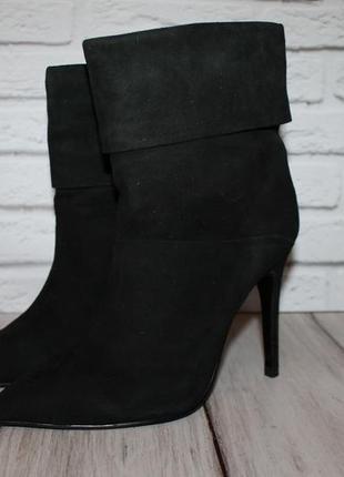 Sasha fabiani стильные замшевые ботинки/полусапожки 37 размер 100% натуральная замша