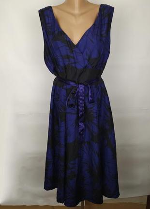 Платье шелковое шикарное длинное большого размера monsoon uk 20/48/3xl