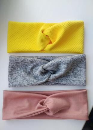 Комплект из 3 шт повязка чалма тюрбан повязочка на голову