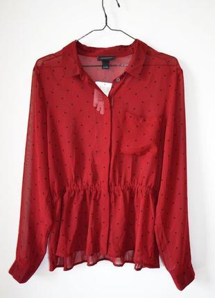 Блуза в горшек красивого винного цвета monki