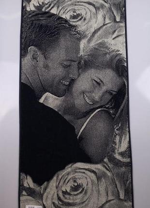 Махровое полотенце поцелуй 70*140 беларусь