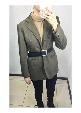 Пиджак винтаж  удлиненный шерстяной оверсайз ralph lauren dior chanel zara