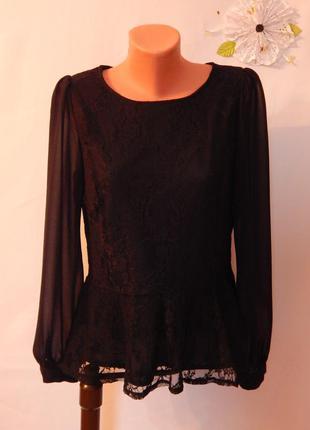 Dorothy perkins ажурная нарядная блуза ( размер 14)