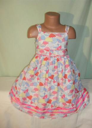 Легкое платье - сарафан на 4-5лет