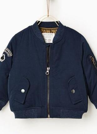 Куртка бомбер zara 92-98 2-3 года