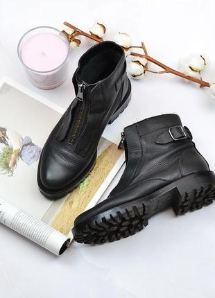 Ботинки натур кожа stradivarius