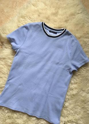Базовая футболка в рубчик