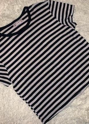 Майка футболка кофта кроп топ полосатая1 фото