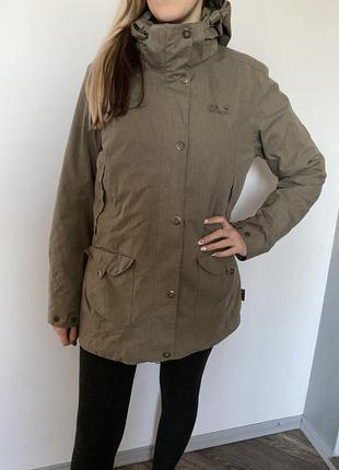 Куртка с подкладом,женская парка,лыжная,jack wolfskin,фирменная,осень-зима
