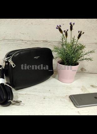 Популярная сумка через плечо / клатч на три отделения dovili (johnny) qn-1232 черный