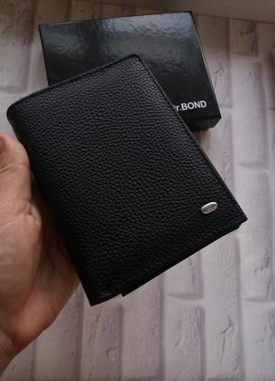 Мужской кожаный кошелек портмоне кожаное мужское. чоловічий шкіряний гамнець