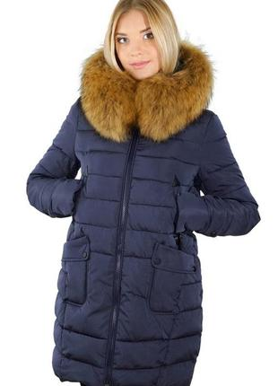Зимняя куртка, размер м, натуральный мех
