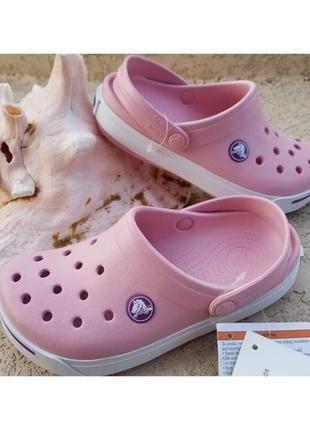 Крокс 2.5 детские crocs crocband ii clogs petal/dahlia