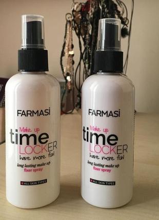 -55% спрей - фиксатор макияжа farmasi time locker make up фармаси