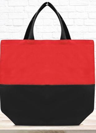 Эко-сумка шоппер, красная