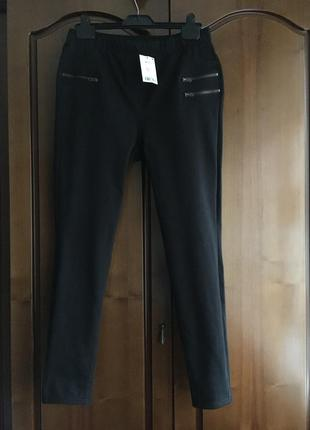Чёрные брюки легинцы next