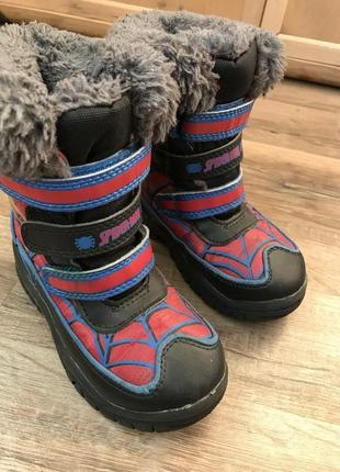 Ботинки дутики spiderman marvel