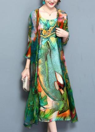 Комплект двойка -платье и накидка floryday