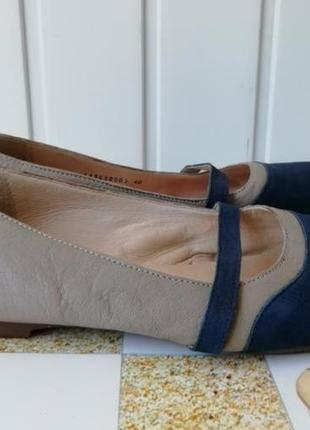 Кожаные туфли, балетки фирмы fly london