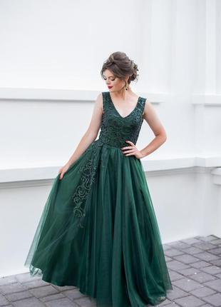 Выпускное платье зелёного цвета 🤤