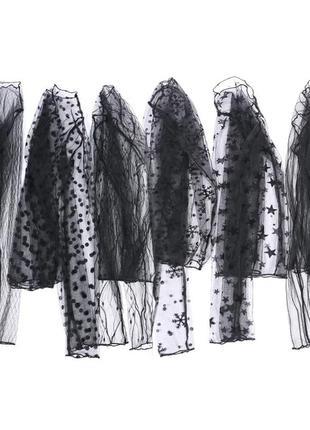 Базовая прозрачная блуза трендовая блуза-сетка сетчатый топ♠1=2♠ 1+1=3