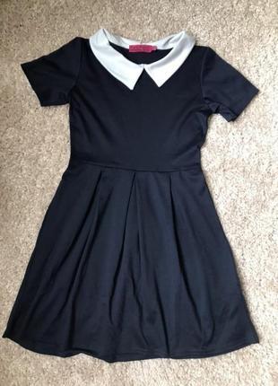 Платье воротник школьное солнцеклеш