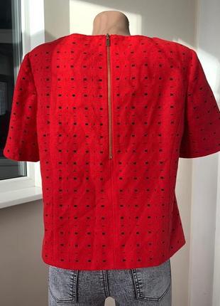 Красная блуза футболка2 фото