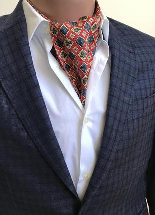 Bally silk ascot  шелковый шейный платок аскот hermès