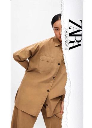 Zara новая коллекция! oversize платье рубашка куртка