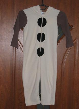 Флисовый человечек ромпер слип пижама