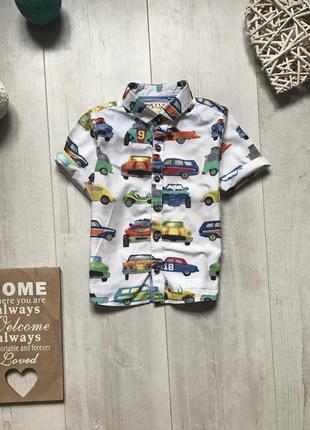 Рубашка с машинками 1,5-2 года