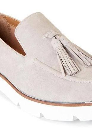 Замшевые туфли лоферы franco sarto platform loafers, размер 8us