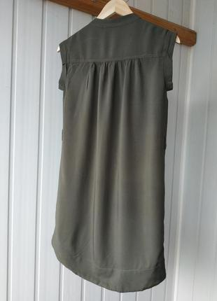 Платье рубашка хаки на пуговицах new look2 фото