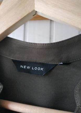 Платье рубашка хаки на пуговицах new look3 фото