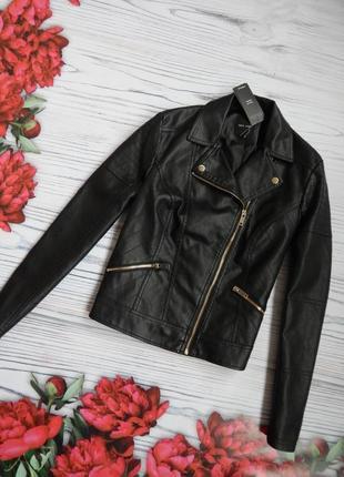 🌿модная, актуальная косуха / кожанка / куртка от new look. размер м - l. 🌿