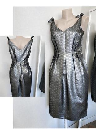 Вечернее платье парча zara