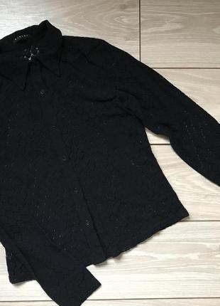 Ажурная чёрная рубашка sisley размер s m