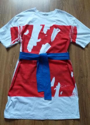 Zara  w/b collection платье-футболка