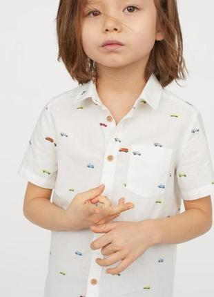 Рубашка новая с принтом машинки