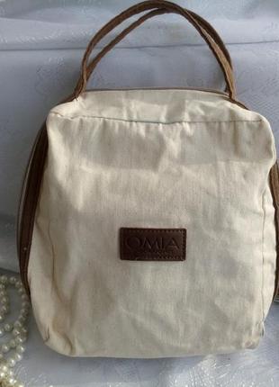 Косметичка omia (сумка) из натурального льна, сумочка органическая